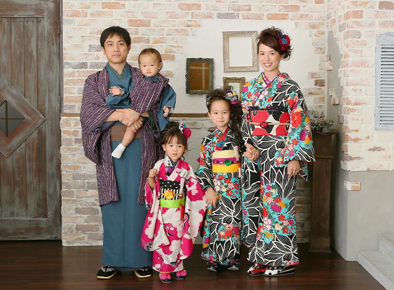 家族での七五三写真イメージ