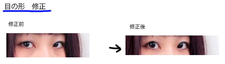 目の形補正