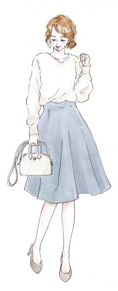 白い服を着た女性のイラスト