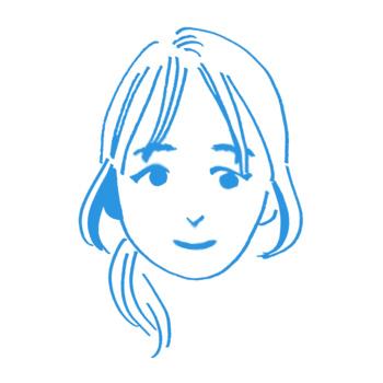 普通肌の女性のイラスト