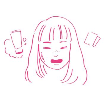 混合肌の女性のイラスト