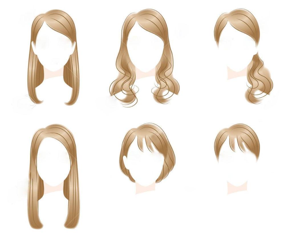 髪型で与える印象の違い