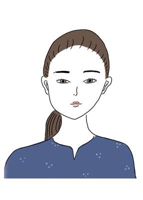 モテない髪型の女性