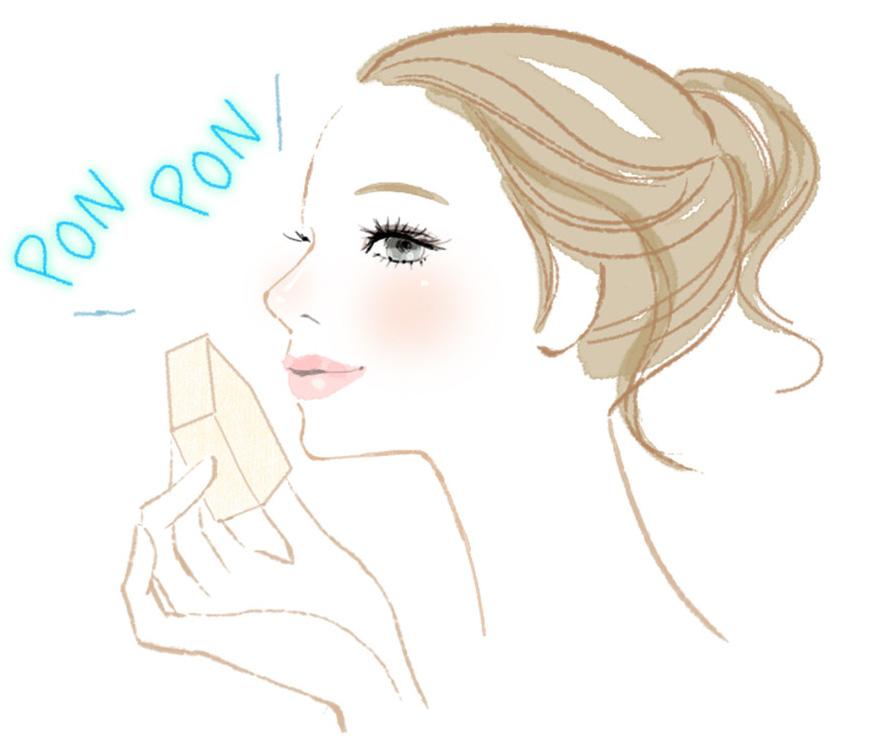 薄化粧の女性のイラスト