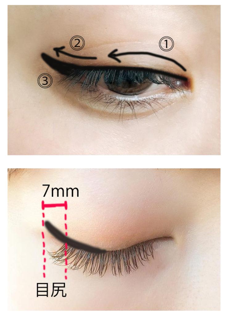 猫目のメイク方法