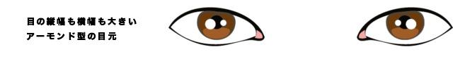 アーモンド型の目の似合わせアイメイクする女性