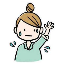 二の腕に出来る吹き出物の原因を伝える女性 二の腕に出来た吹き出物に困る女性