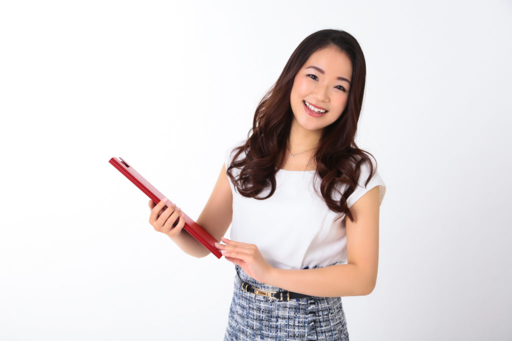 モデル兼エステティシャンのプロフィール(宣材)写真