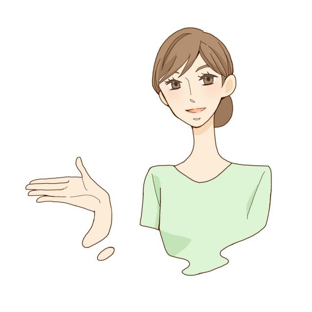 清潔感のある女性のイラスト