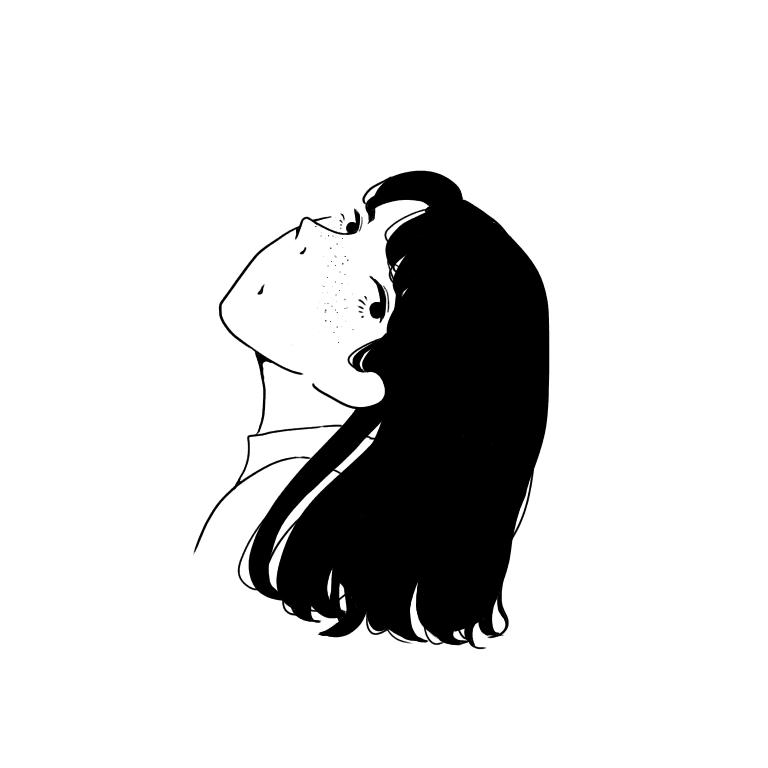 そばかすの女性のイラスト