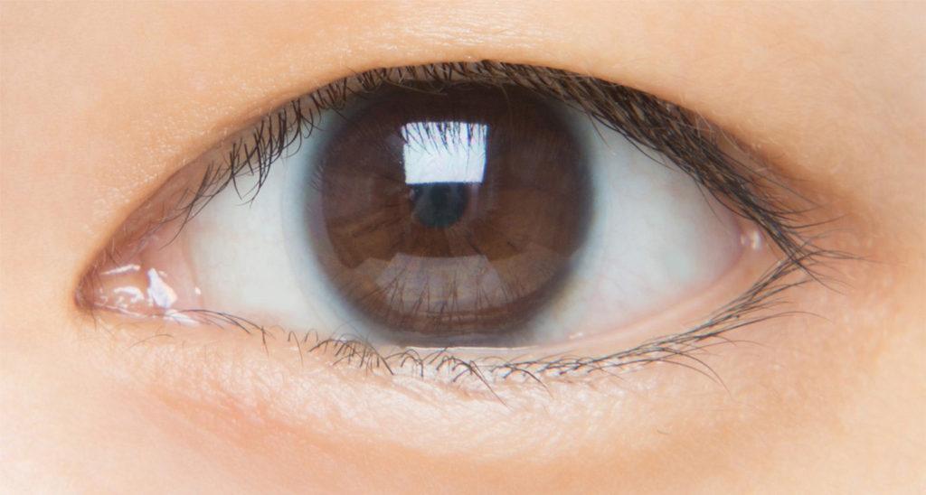 一重のたれ目の目元