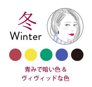 ブルーベース冬タイプの女性