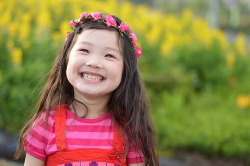 笑顔のかわいい女の子