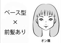 ベース型で前髪ありの女性