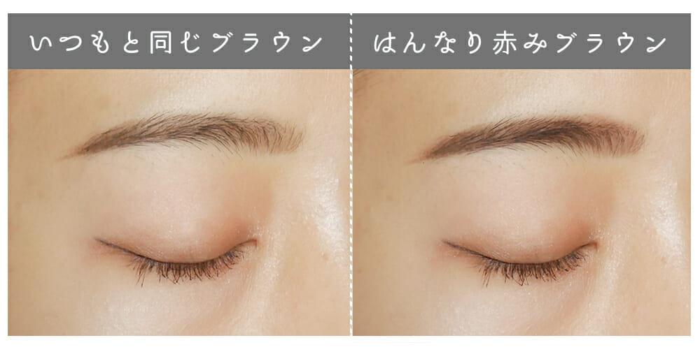 赤みブラウンの眉毛の写真