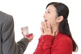 プロポーズを喜んでいる女性