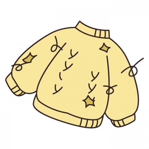 ボロボロの服のイラスト
