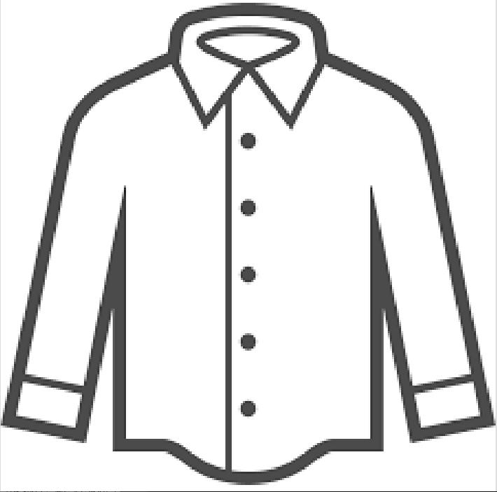 無地のシャツのイラスト