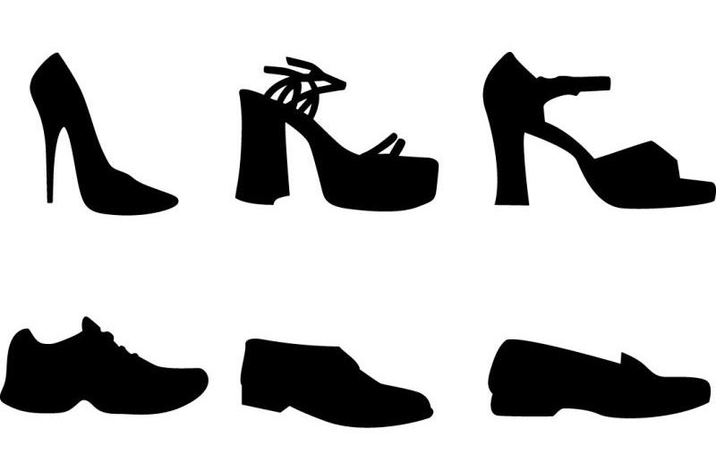 靴のデザインのイラスト
