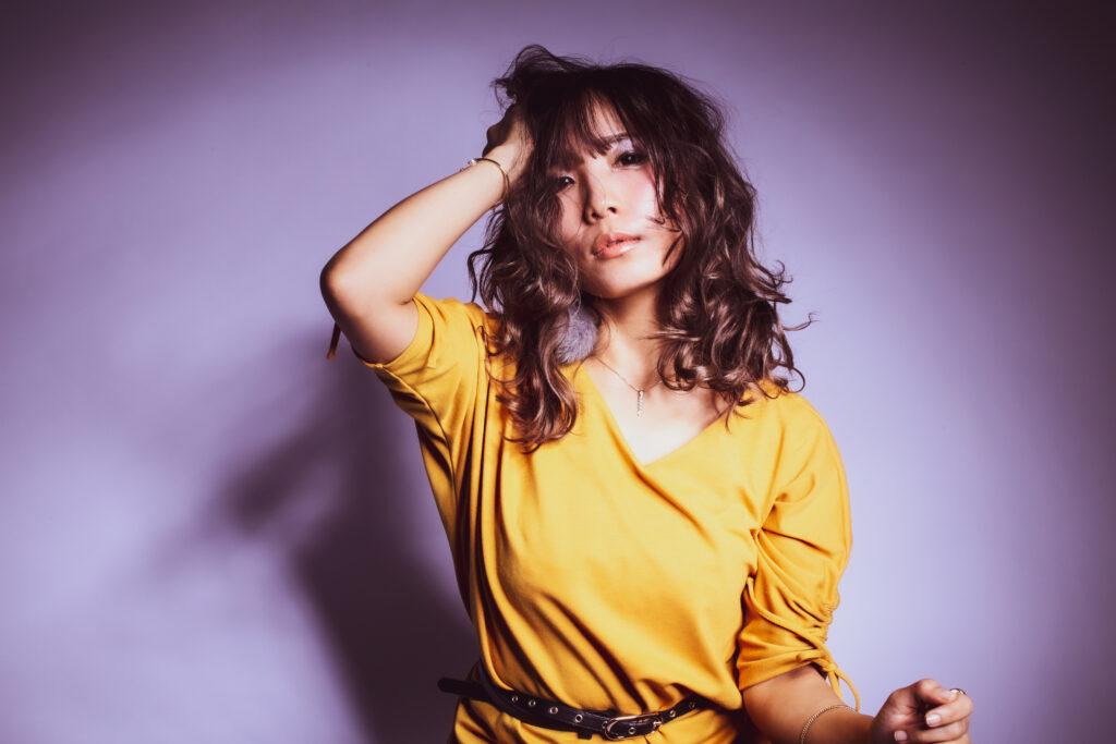 パトリック大阪で撮影した女性歌手の宣材写真