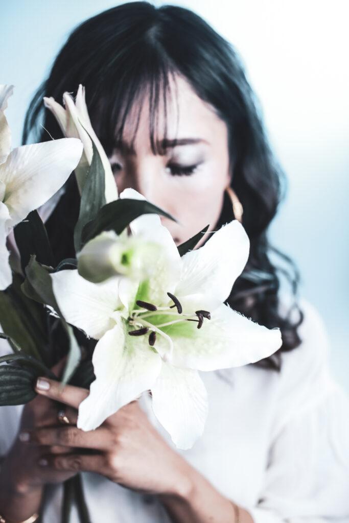 パトリック大阪で撮影した女性歌手のプロフィール写真