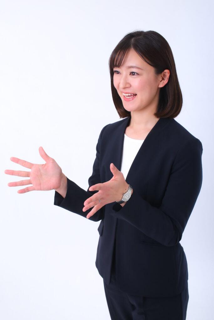 女性のビジネスプロフィール